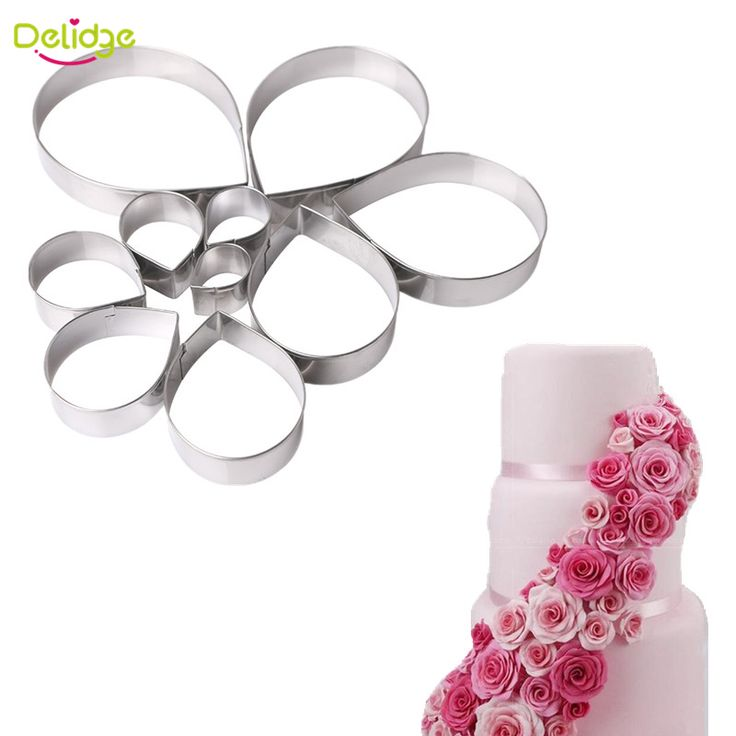 Delidge 10 pcs/set Rose Flower Cookies Molds Stainless Steel Flower Shape Cookie Cutters Set Cake Molds Biscuit Tool-in Baking & Pastry Tools from Home & Garden on Aliexpress.com | Alibaba Group