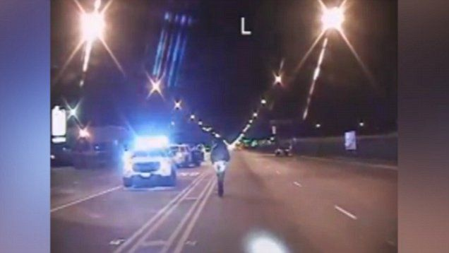 Chicago Police released the dashcam video of Officer Jason Van Dyke shooting 17-year-old Laquan McDonald in 2014. Officer Van Dyke has been charged with murder in the first degree. The video contains graphic content and viewer discretion is advised.