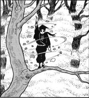伊賀の影丸 横山光輝  木の葉がくれ  黒づくめの忍者服