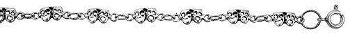 Sterling Silver Drama Masks (Comedy/Tragedy) Charm Bracelet, 3/16 inch (5 mm) wide Sabrina Silver. $24.10