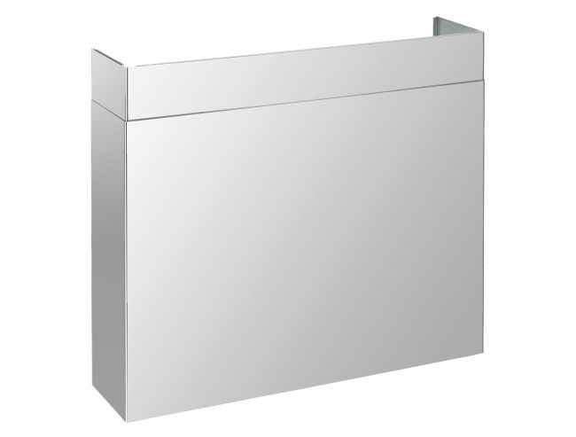 """Full width duct cover, suitable for all PRO 48"""" hoods. Finishing, stainless steel. Tecnogas SUPERIORE"""