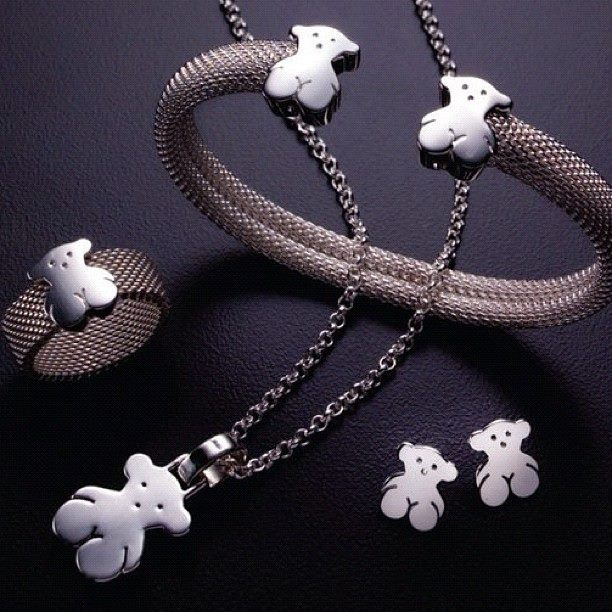 Tous Bear in sterling silver . Perfect set for Mother's Day PERFECTO PARA EL DIA DE LAS MADRES JUEGO HERMOSO!