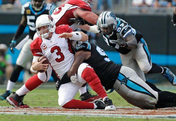 Cardinals Panthers Football Carson Palmer, Kawann Short