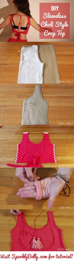 Easy DIY Choli style belly dance top!                                                                                                                                                                                 More