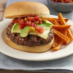 Zesty Salsa Burger from ReadySetEat.com