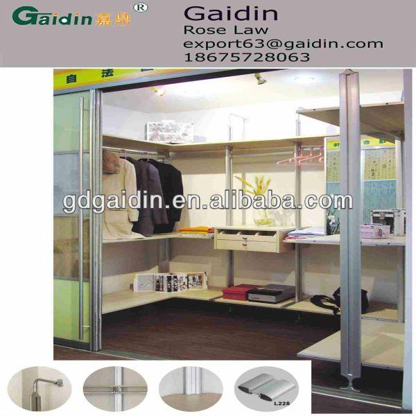 walk in wardrobe pole system wardrobe aluminum DIY wardrobe DIY walk in closet