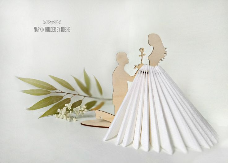 Lovely Napkin holder Making Proposal / Marry me / Wedding napkin holder / Wedding teble decor / Wedding decorations / Table decor /Laser cut