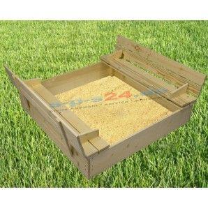 Trend Sandkasten mit Sitzbank aus unbehandeltes gehobeltes Fichtenholz Durch die praktischen integrierten Sitzb nke mit