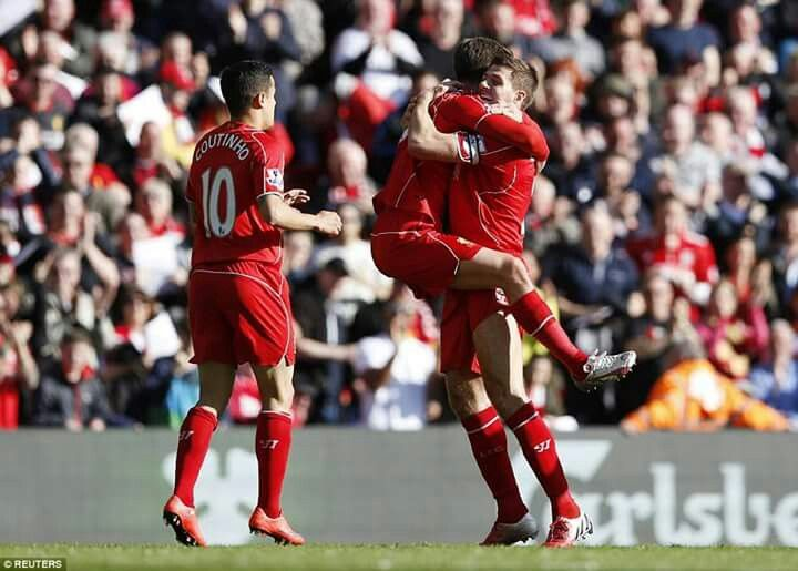 Lallana after scored