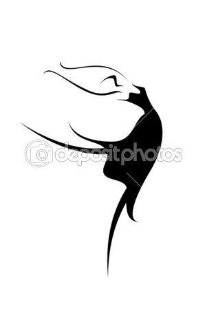 Streszczenie obraz baletnica — Grafika wektorowa © matik22 #49023857