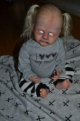 Reborn Baby Girl Infected Zombie Goth Horror Ooak