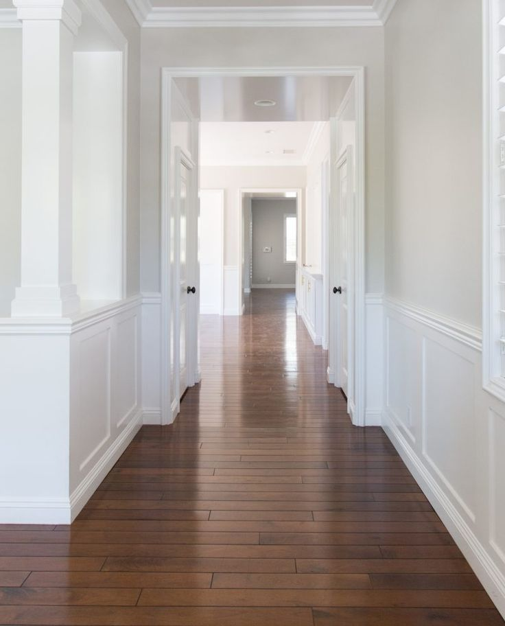 Our New Home | Downstairs Reveal - A Thoughtful Place Wall Color: Pale Oak by Benjamin Moore, Trim: White Shadow