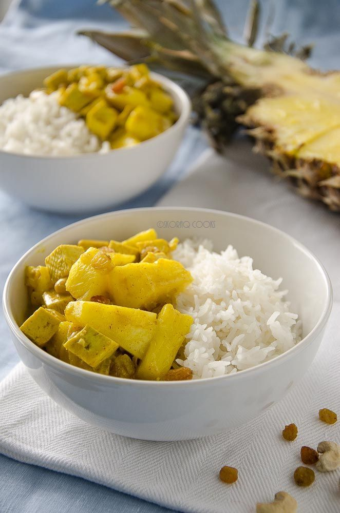 Curry z tofu i ananasa / Pineapple and tofu curry