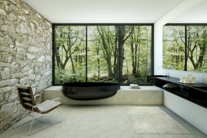 Absolutely Amazing Stone Bathroom Walls That You Are Going To Love - Top Dreamer