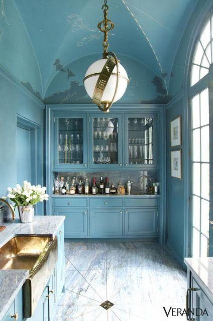 An Old Farm: A Blue Kitchen?
