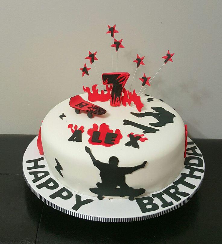 skateboard themed cake, DC