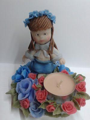 Swiecznik z zimnej porcelany