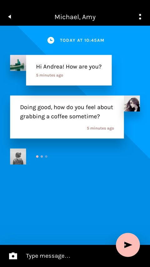 Free Chat UI kit for Photoshop and Sketch | InVision