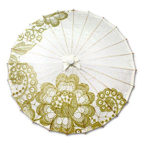 Amazing parasols! A Wedding Collection – Parasols by Design | $7! www.SweetStart.us ❤ Weddings@SweetStart.us