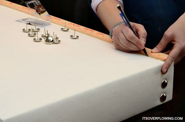 DIY Nailhead Cornice Board Makeover