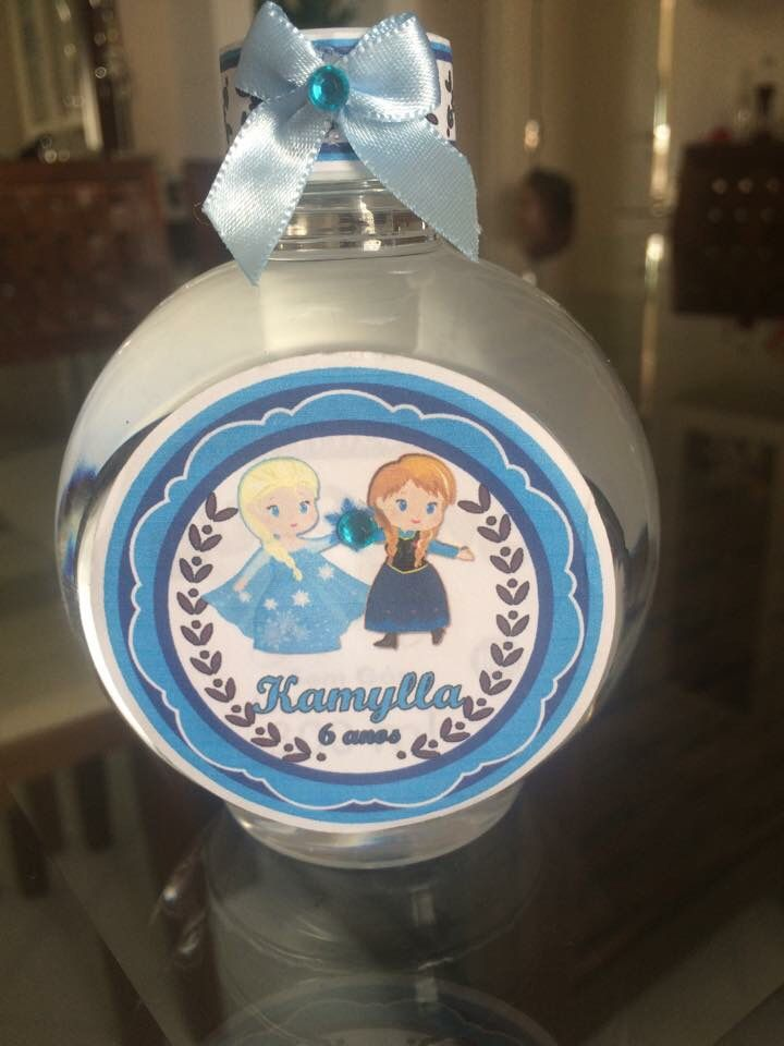 Água personaliza festa Frozen