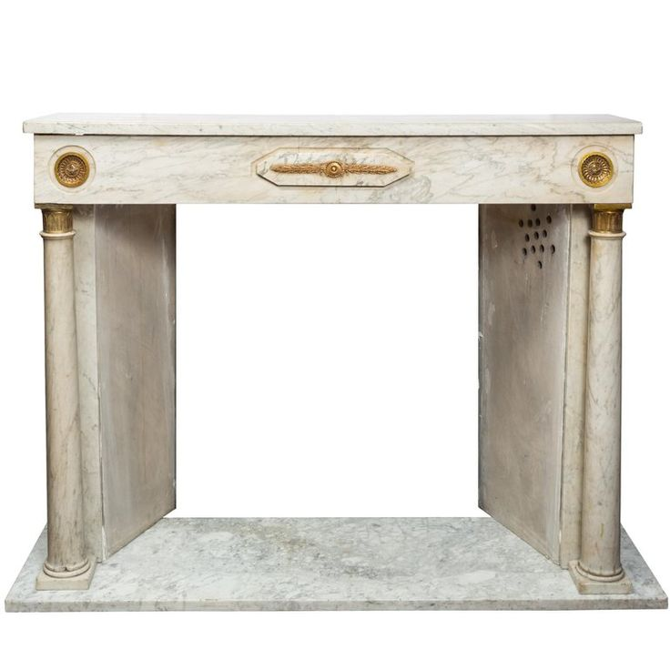 19th Century French Empire Style Marble Fireplace