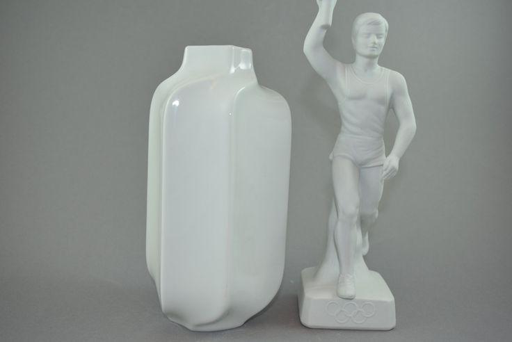 VIntage Vase von H G Selb Bavaria Heinrich Porzellan| West Germany | WGP | 70er, weiße Vase, Porzellanvase, Mid Century Modern, von ShabbRockRepublic auf Etsy
