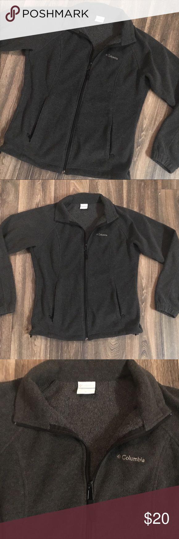 Gray Columbia Fleece Zip Jacket Gray Columbia Fleece Zip Jacket with 2 front pockets Columbia Jackets & Coats