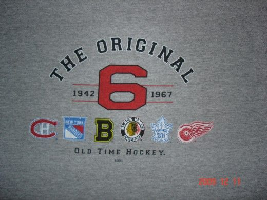 when hockey was the original six