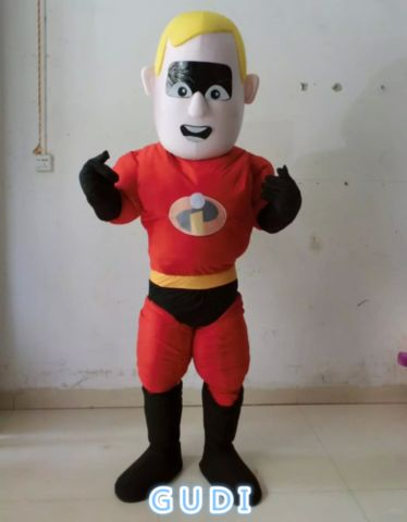 HOT High quality Superman cartoon mascot costumes Halloween party Free Shipping