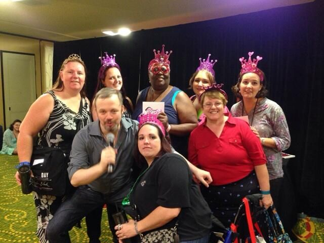 @DamonSuede holding court with tiara ladies and giving away fabulous prizes at #RT14 #FANtasticDayParty pic.twitter.com/UmJRIFsNyO