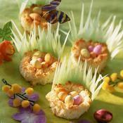 Petits nids à la noix de coco - une recette Dessert - Cuisine