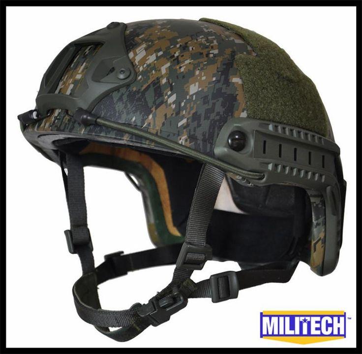 [Visit to Buy] Militech AOR2 Camo NIJ IIIA 3A FAST High Cut Kevlar Bulletproof Ballistic Tactical Helmet MARPAT Woodland With 5 Years Warranty #Advertisement