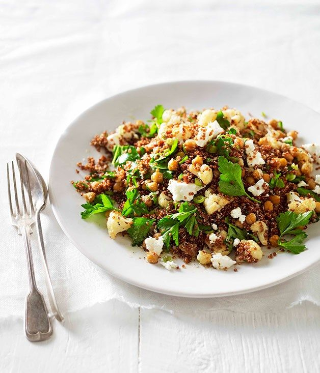 Australian Gourmet Traveller recipe for warm roast cauliflower, chickpea and…