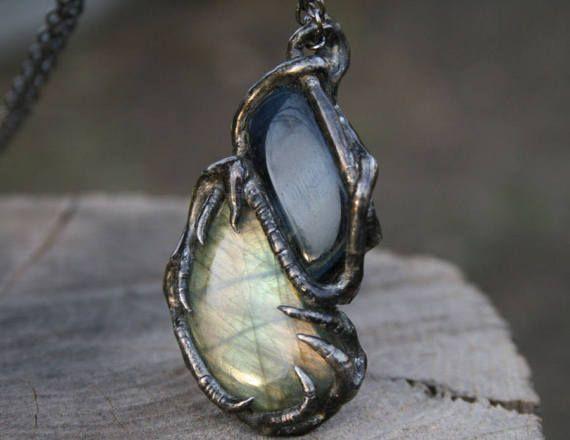 LABRADORITE necklace gemstone Necklace EAGLE EYE necklace, #LABRADORITEnecklace, #gemstoneNecklace