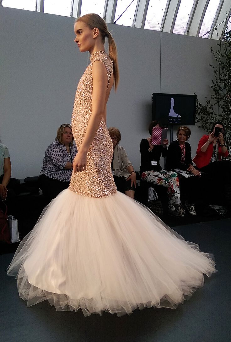 Aya Couture 2016 Beautiful sequin fishtail dress with a stunning cut out back. My favourite from the collection!