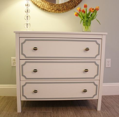 Redo My Trusty Old Dresser Maybe White And Gold The Seattle Glam Pad Pinterest Overlays