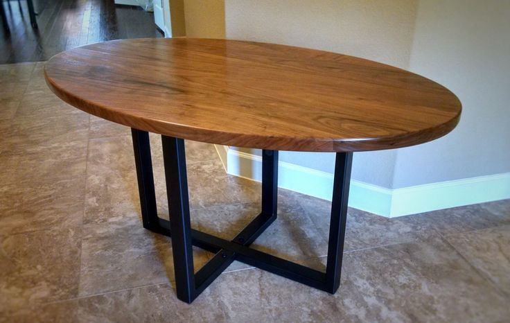 Oval Table Desk Top - Solid Black Walnut Wood // Conference, Desk, Dining, Kitchen, Coffee, Island, Pub, Restaurant, Cafe, Breakfast by SelectWoodWorks on Etsy https://www.etsy.com/listing/280011106/oval-table-desk-top-solid-black-walnut