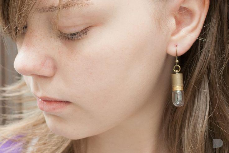 Żarówkowe kolczyki :) Bulb earrings :) #pinka #pinka-bizuteria #jewellery #jewelry #kolczyki #earrings #bulb #modern #old&new #fashion