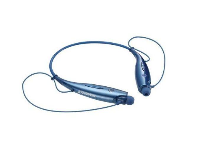 Sylvania White Bluetooth Neckband Headphones Smartphone Mic and BuiltIn Controls #Sylvania