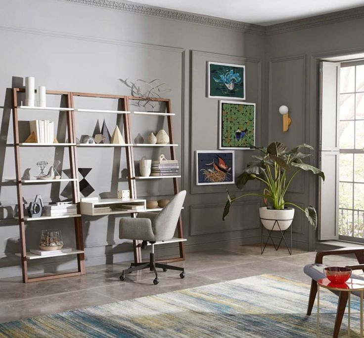 designed with smaller spaces in mind our ladder shelf desk set matches lots of storage it features twelve fixed shelves with a compact footprint and
