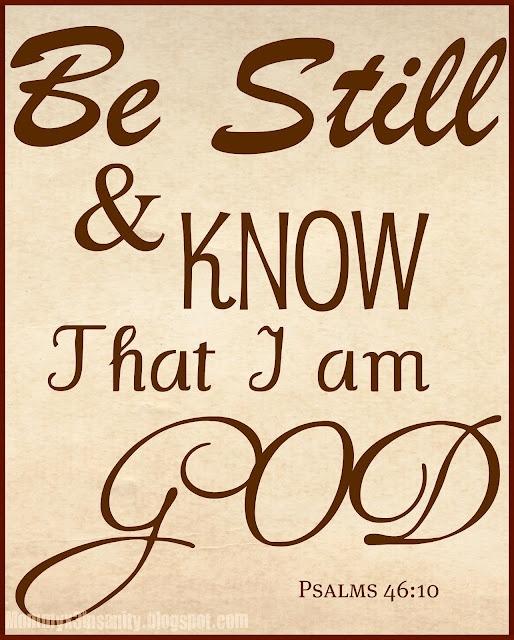 Printable Psalms 46:10
