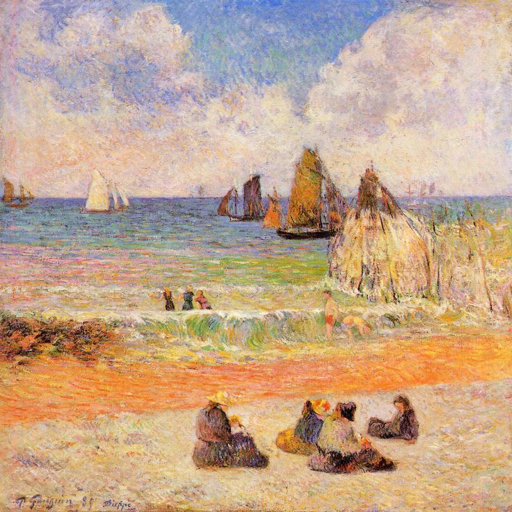 Paul Gauguin (1848-1903), Bathing, Dieppe or Beach, Dieppe, 1885. oil on canvas, 71 x 71 cm