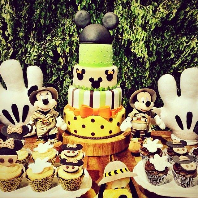 Festa Infantil Disney Safari Mesa Bolo Mickey