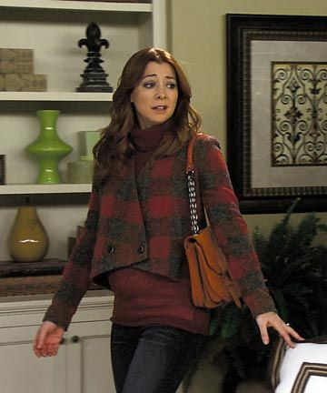 I totally love this TV show, How I met Your Mother, and absolutely agree with Marshall that Lily is the most incredible woman I've ever known. Lily's my most favorite character. She's  an extremely attractive person and also looks great in every outfit!! ...This jacket is by Thakoon.