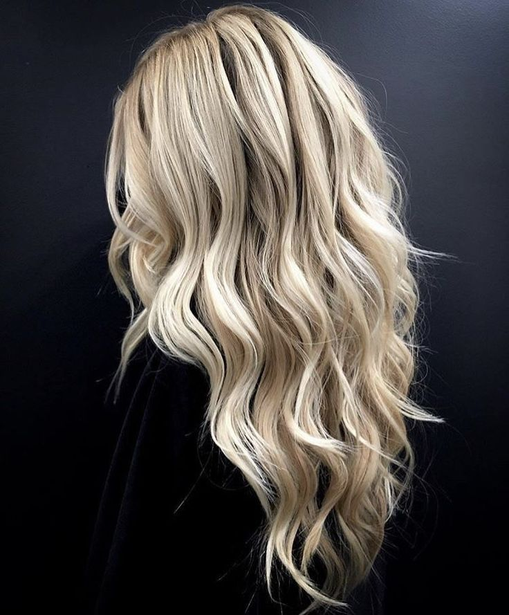Perfect blonde hair.