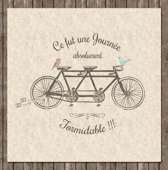 le tandem tous droits r serv s le petit faire part de nelly 2012 a bicyclette pinterest. Black Bedroom Furniture Sets. Home Design Ideas