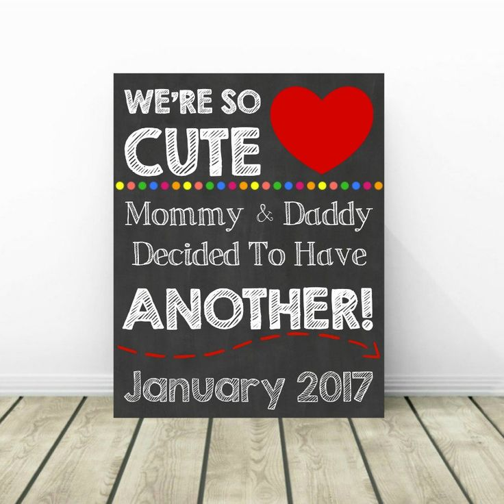 3rd Pregnancy Announcement, Pregnancy Chalkboard Sign, Baby Reveal, Baby Announcement, Pregnancy Reveal, Sibling Announcement, 2nd Baby by PrintsInspiredByMyah on Etsy