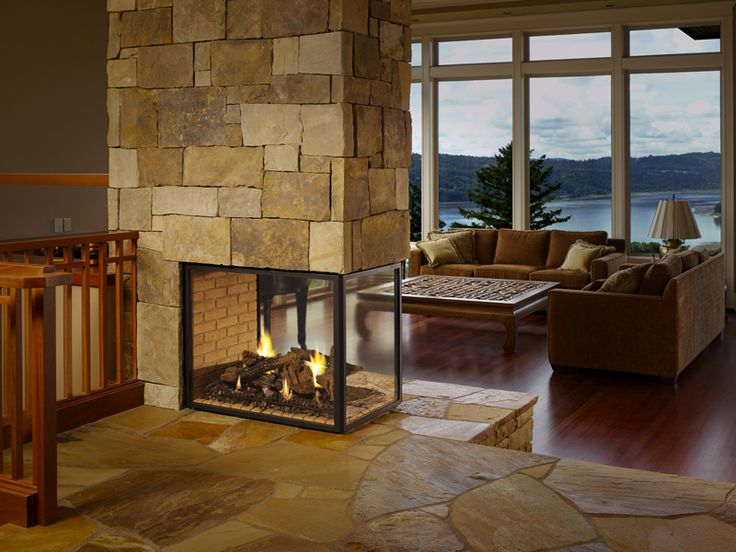 two-sided linear fireplace designs | Sigma Tremblay ...