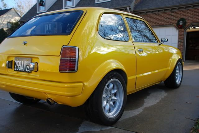 honda civic cvcc  speed dr canary yellow    favorite car   owned